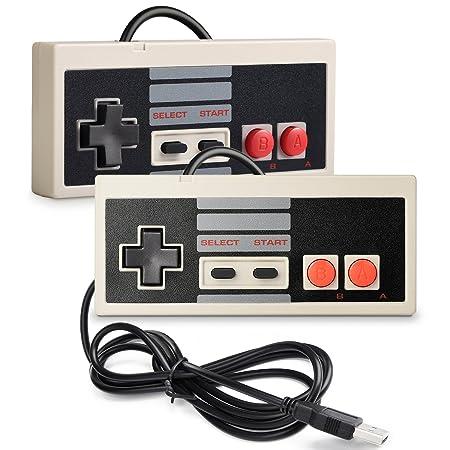 2 Pack iNNEXT NES Controller USB Gamepad für PC/Mac,Classic USB NES Controller Joystick Joypad für Windows PC/Mac / Raspberry