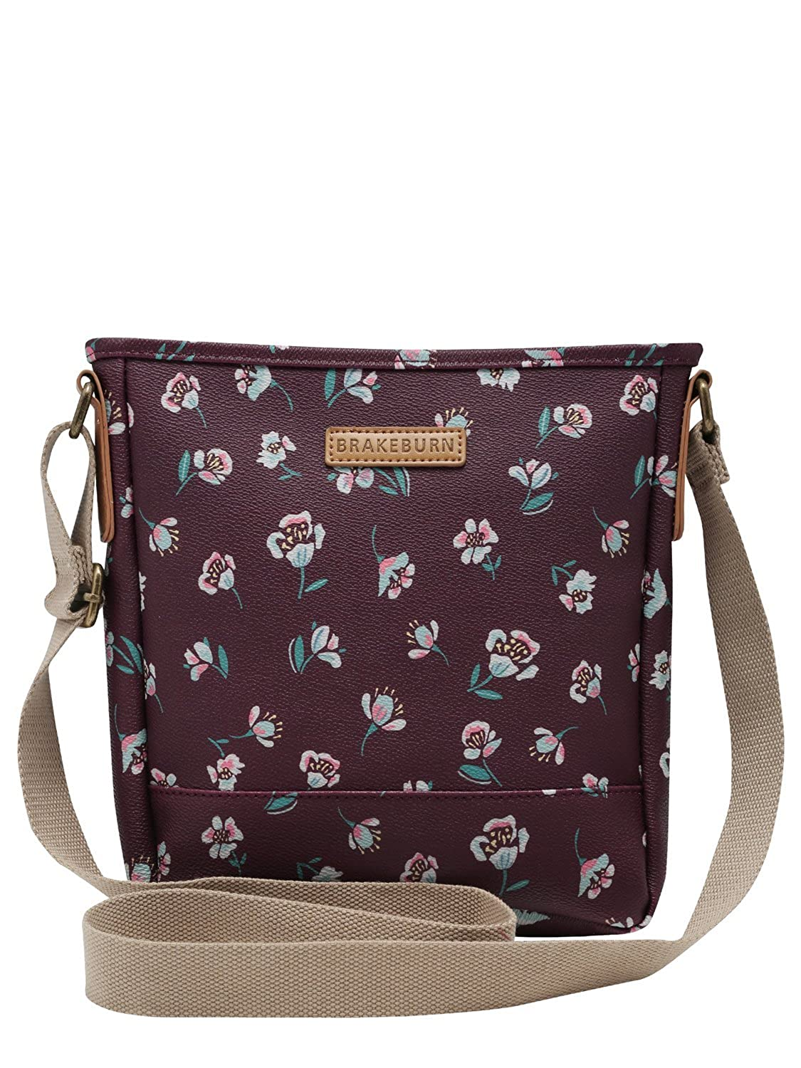 Brakeburn Ladies Cotton Blend Floral Print Adjustable Cross Body Bag