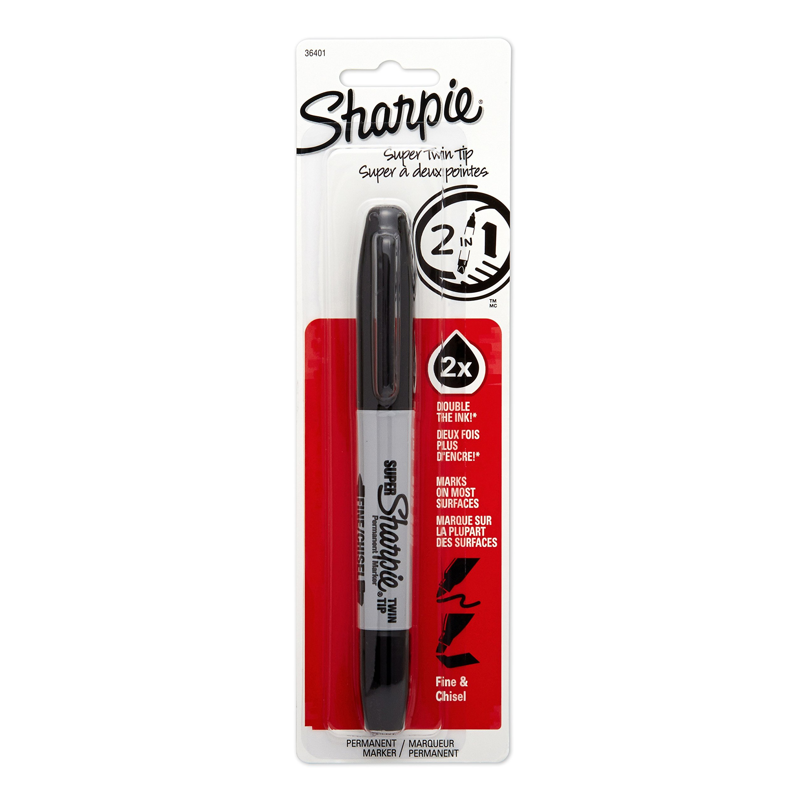 Sharpie Super Twin Tip Fine Point And Chisel Tip Permanent