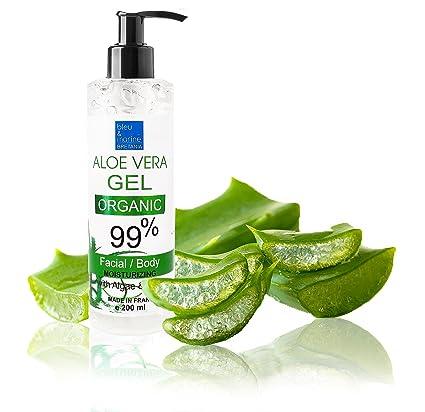 Gel de Aloe Vera Ecológico 99% Refrescante & Hidratante Rostro Cuerpo Dispensador 200 ml-