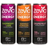 Zevia Zero-Calorie, Naturally Sweetened Energy Drink Variety Pack, 12 Ounce (Pack of 12)