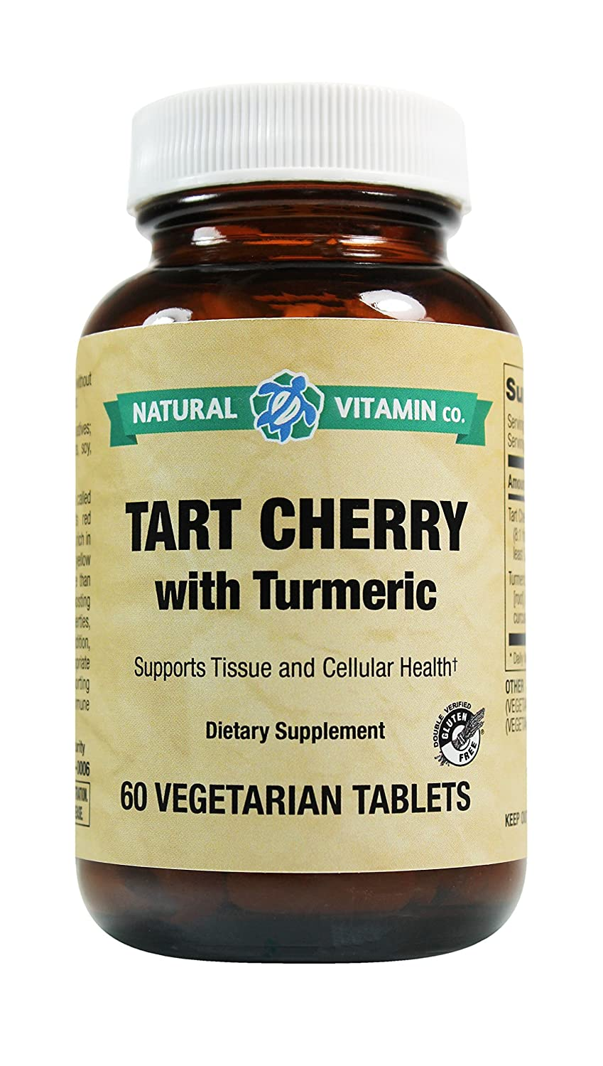 Natural Vitamin Co. – Tart Cherry with Turmeric, Tart Cherry 825mg, Turmeric 50mg, 60 Tablets, 2 Month Supply, Gluten Free, Vegetarian, Vegan