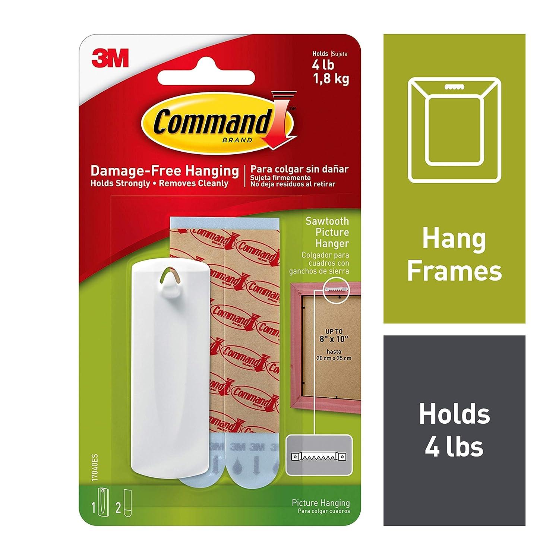 3M Comando 17042 color blanco Gancho paquete de 3
