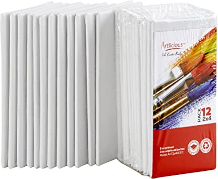 Canvas Panel 4X4 Pack Of 12 Crafts Art Supplies Painting Supplies