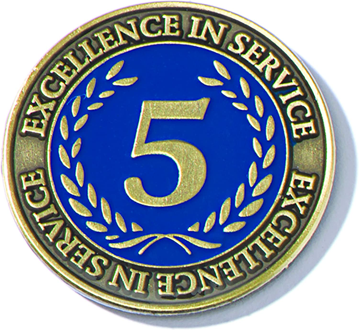TCDesignerProducts 5 Year Excellence in Service Gold Laurel Award Pin