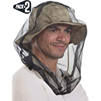 Mosquito Head Net - Bug Face Netting for Hats with Extra Fine Mesh/Fly Screen Holes - Ultimate Outdoor Protection from…