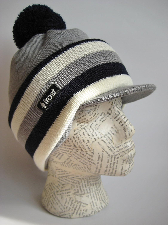 8e121e79376 ... Balaclava Ski Mask Narrow Stripes Knit Frost Hats M-224A larger image