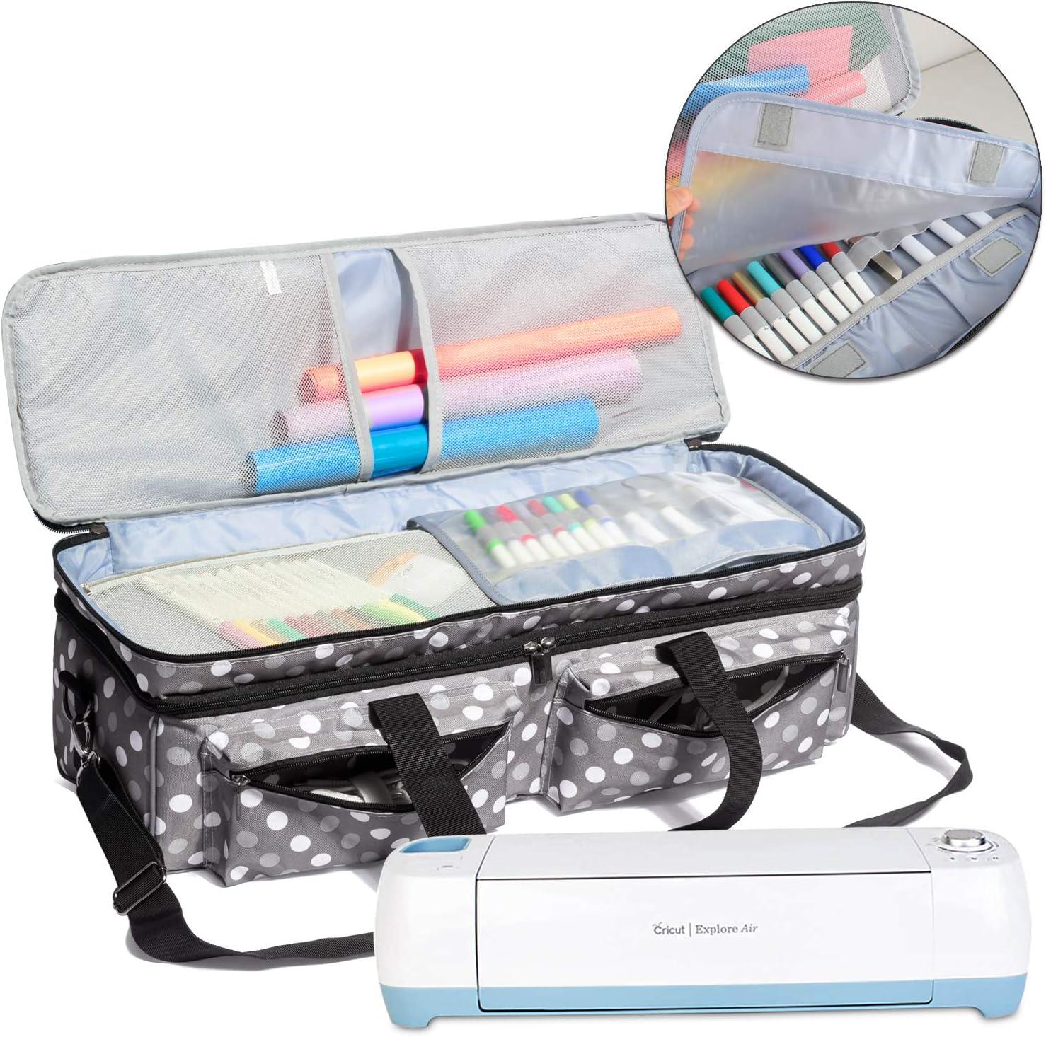 Luxja Bolsa para Silhouette Portrait 2, Organizador de Cricut Maker, Cricut Explore Air 2 y Cameo 3, Bolsa para Brother ScanNCut(para Brother ScanNCut CM300, CM700, CM900), Puntos Grises: Amazon.es: Electrónica