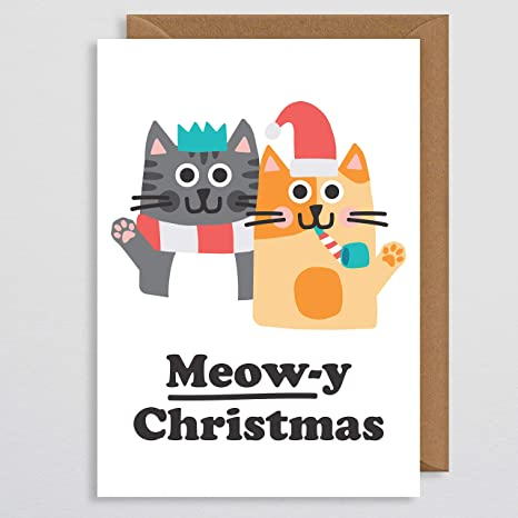 Meowy Christmas , Cat Christmas Cards , Cat Christmas , Christmas Cards  Handmade , Cat Lover Gift , Funny Xmas Cards , Cats , Cat Card , Card from  Cat