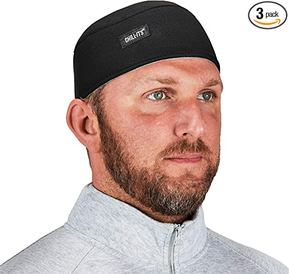 Ergodyne Chill Its 6630 Skull Cap Lined With Terry Cloth Sweatband Sweat Wicking 3 Pack Home Improvement Amazon Com