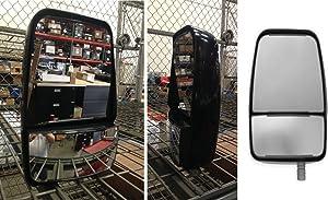 Velvac 714579 Deluxe Left Side Mirror, Black