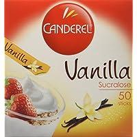 Canderel Sucralose goût Vanille - Boîte de 50 sticks 100 g - Lot de 4