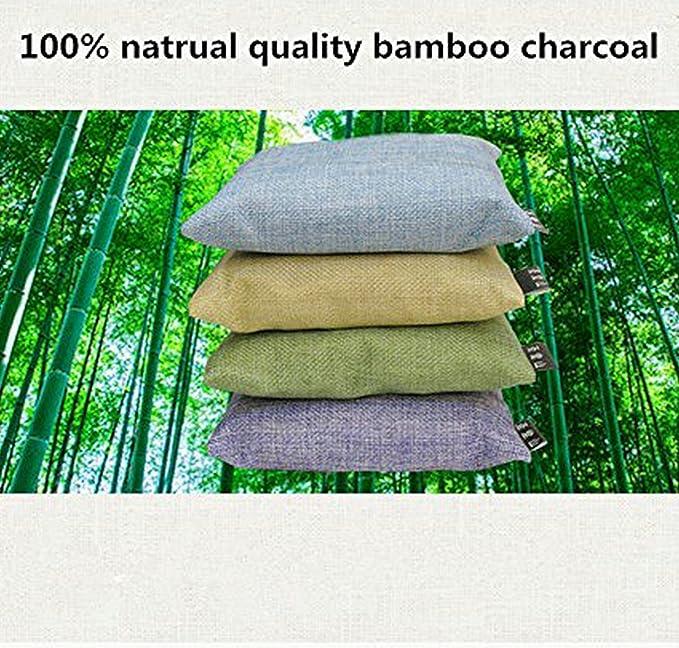 amasawa Bolsa de carbón de bambú de aire Purificación Deodorizer Portable Ambientador para frigorífico, congeladores, Closet, coche, zapatos, Sótanos, ...