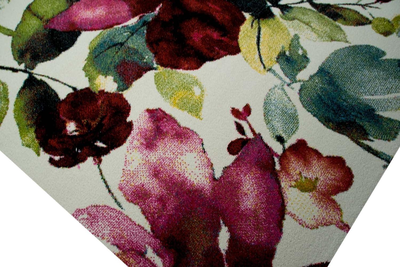 Designer Teppich Moderner Teppich Wohnzimmer Teppich Blumenmotiv Creme Grün Grün Grün Türkis Rosa Pink Größe 200 x 290 cm 9f16b0
