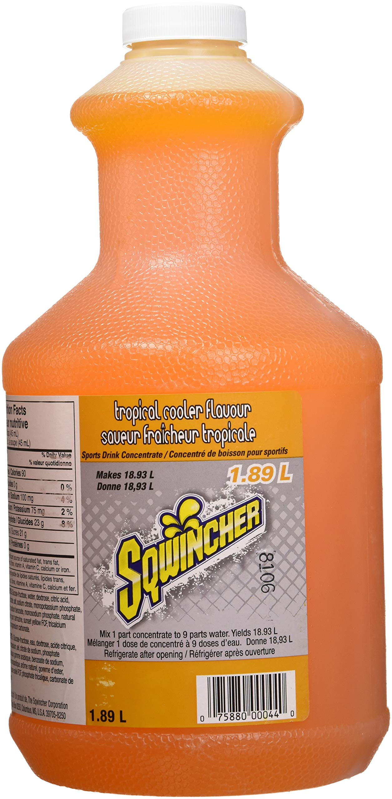Sqwincher Liquid Concentrate Electrolyte Replacement, 5 Gallon Yield, Tropical Cooler 030329-TC (Pack of 6) by Sqwincher