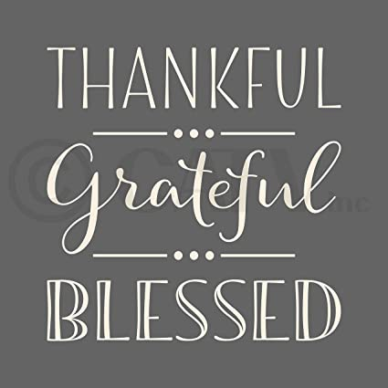 amazon com thankful grateful blessed vinyl lettering wall decal 10
