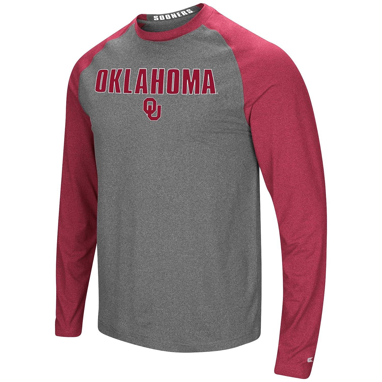 Colosseum Mens NCAA-Buzzer Beater Long Sleeve Raglan T-Shirt-Heathered