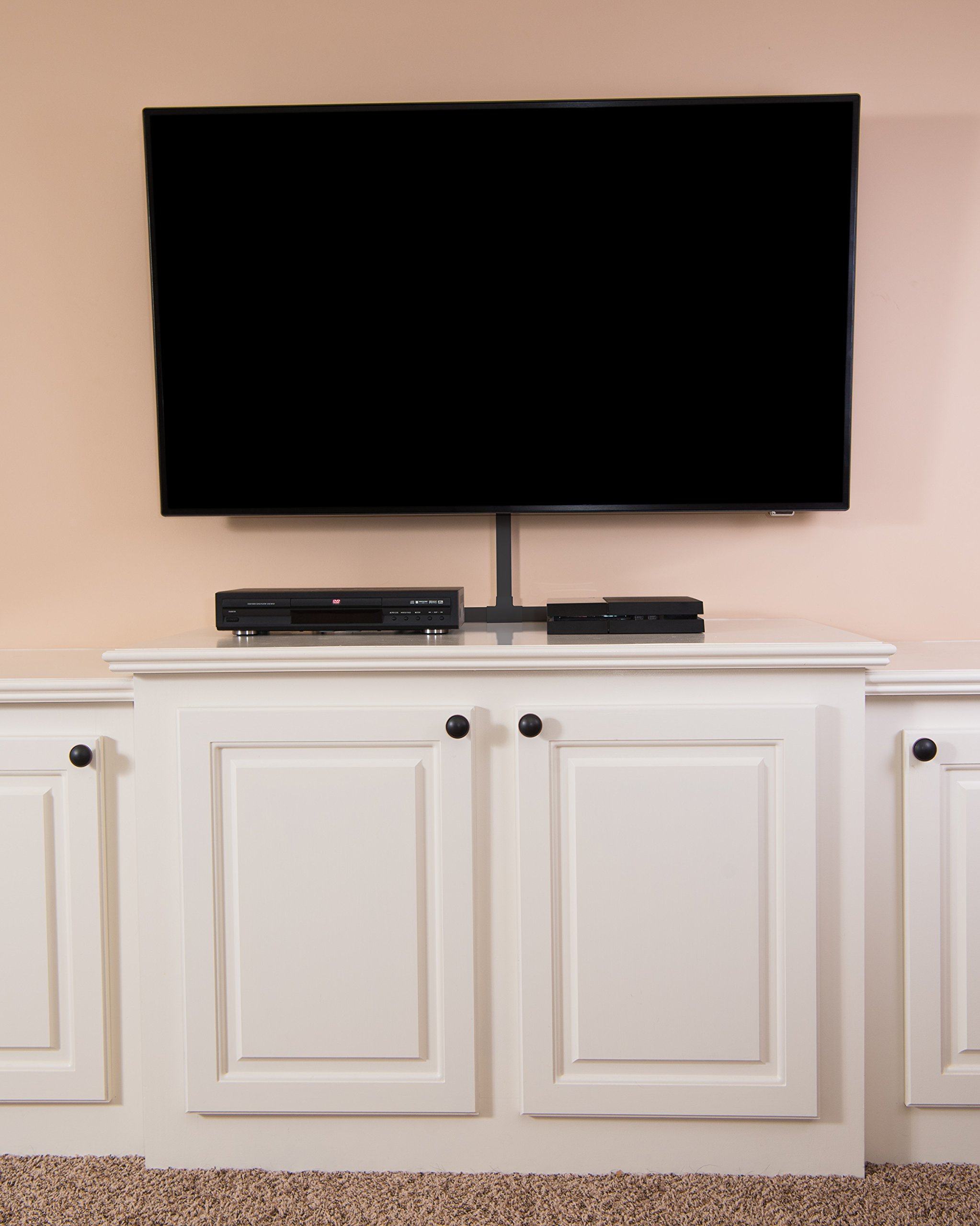 Black Cable Concealer On-Wall Cord Cover Raceway Kit - Cable ...