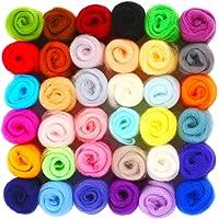YXQSED Fieltro lana hilo de fibra de lana