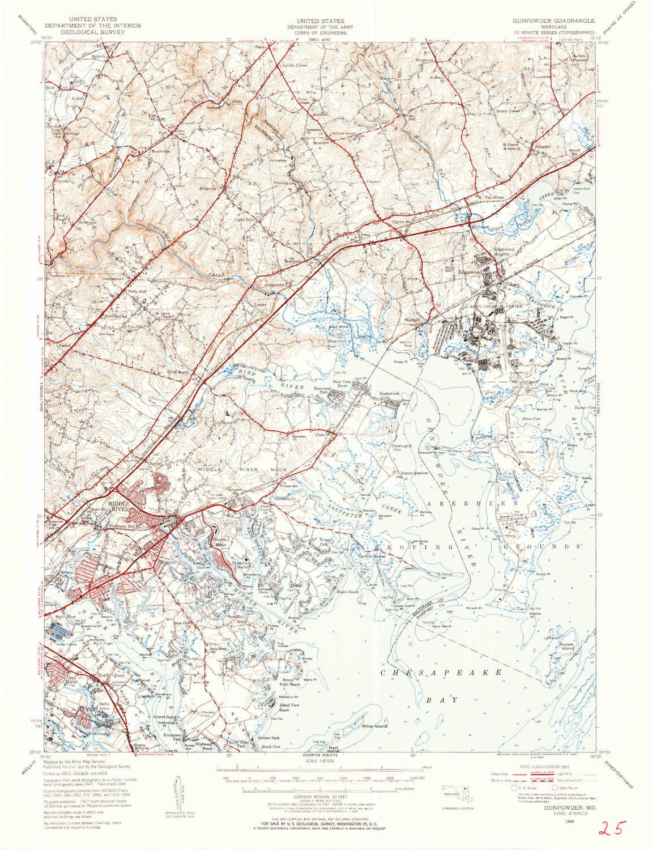 Amazon.com: YellowMaps Gunpowder MD topo map, 1:62500 Scale, 15 X 15 ...