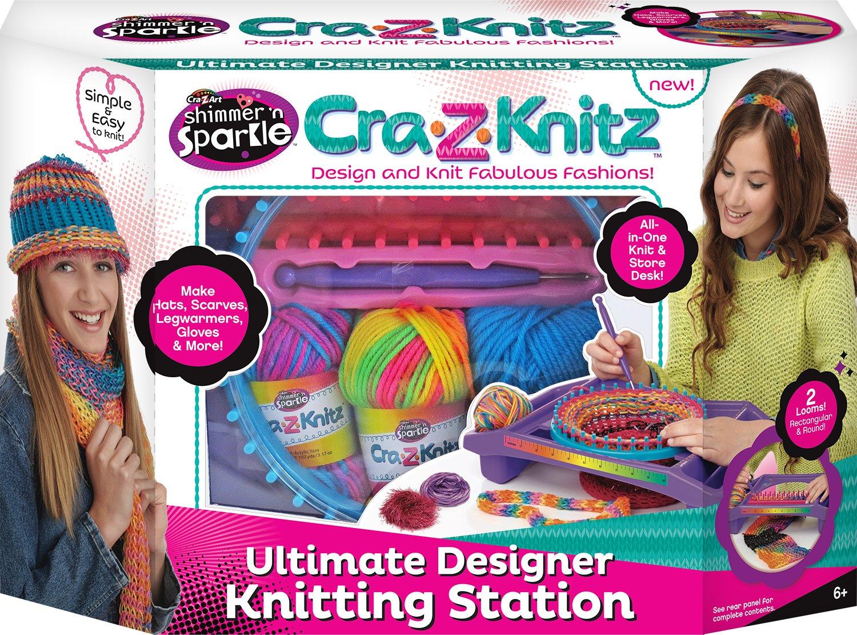 Cra-Z-Knitz Knitting Station Neon Deluxe Cra Z Art 17118