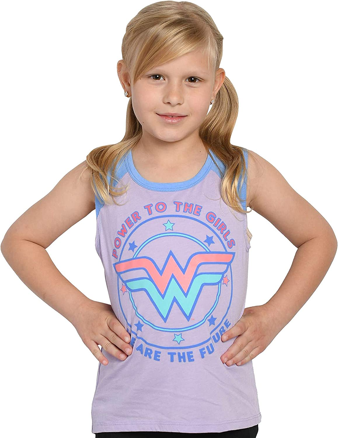 DC Comics Wonder Woman Girls Sleeveless T-Shirt Tank Top