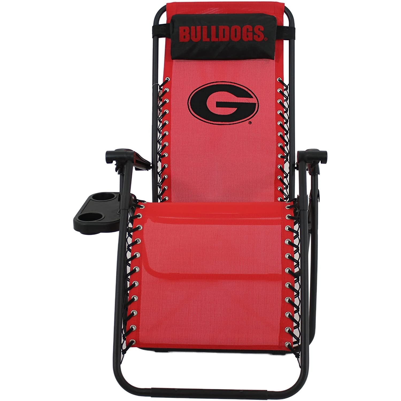 amazoncom college covers georgia bulldogs zero gravity chair sports fan sofas sports u0026 outdoors - Zero Gravity Chair