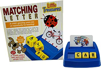 Little Treasures Matching Letter Game, Teaches Word Recognition, Spelling & Increases Memory, 3
