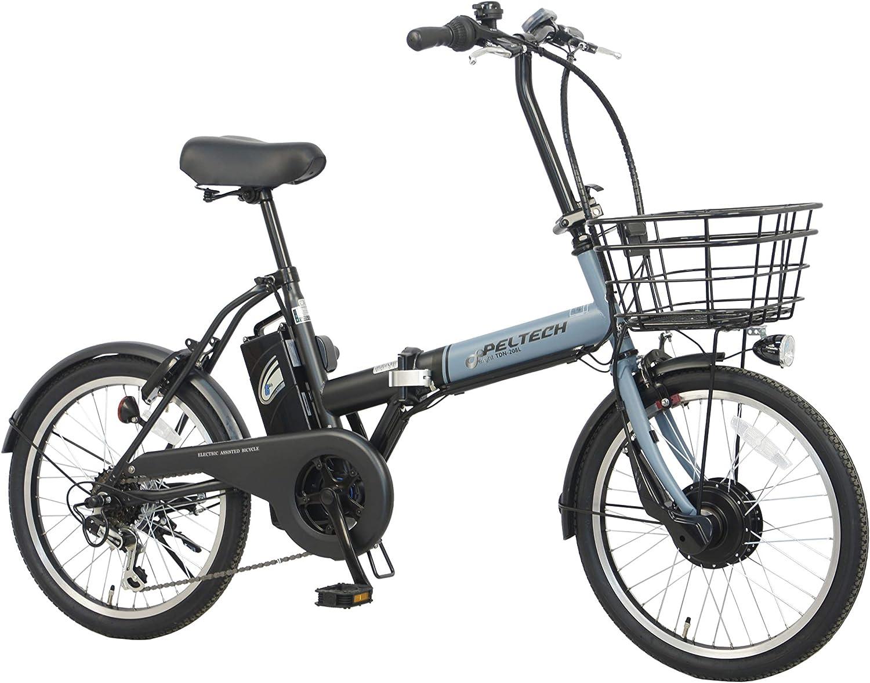 PELTECH 折り畳み電動アシスト自転車
