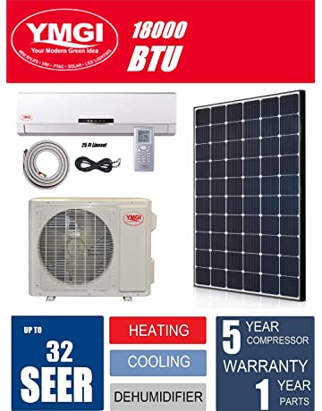 YMGI Ductless Mini Split Air Conditioner 1.5 Ton 18000 BTU up to 32 SEER Solar Assist