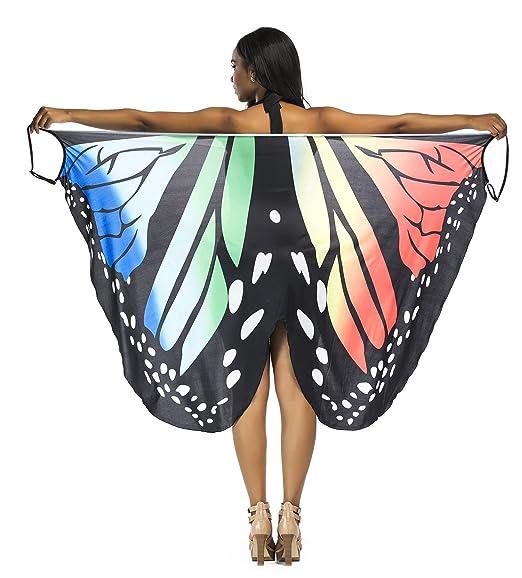 6dcc13403d Wonder Fashion Women Butterfly Beach Dress Bikini Bathing Suit Cover up (M,Pink)