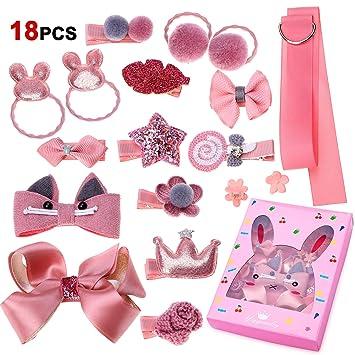 18 piezas de broche para el cabello para bebés, Phogary Pink ...