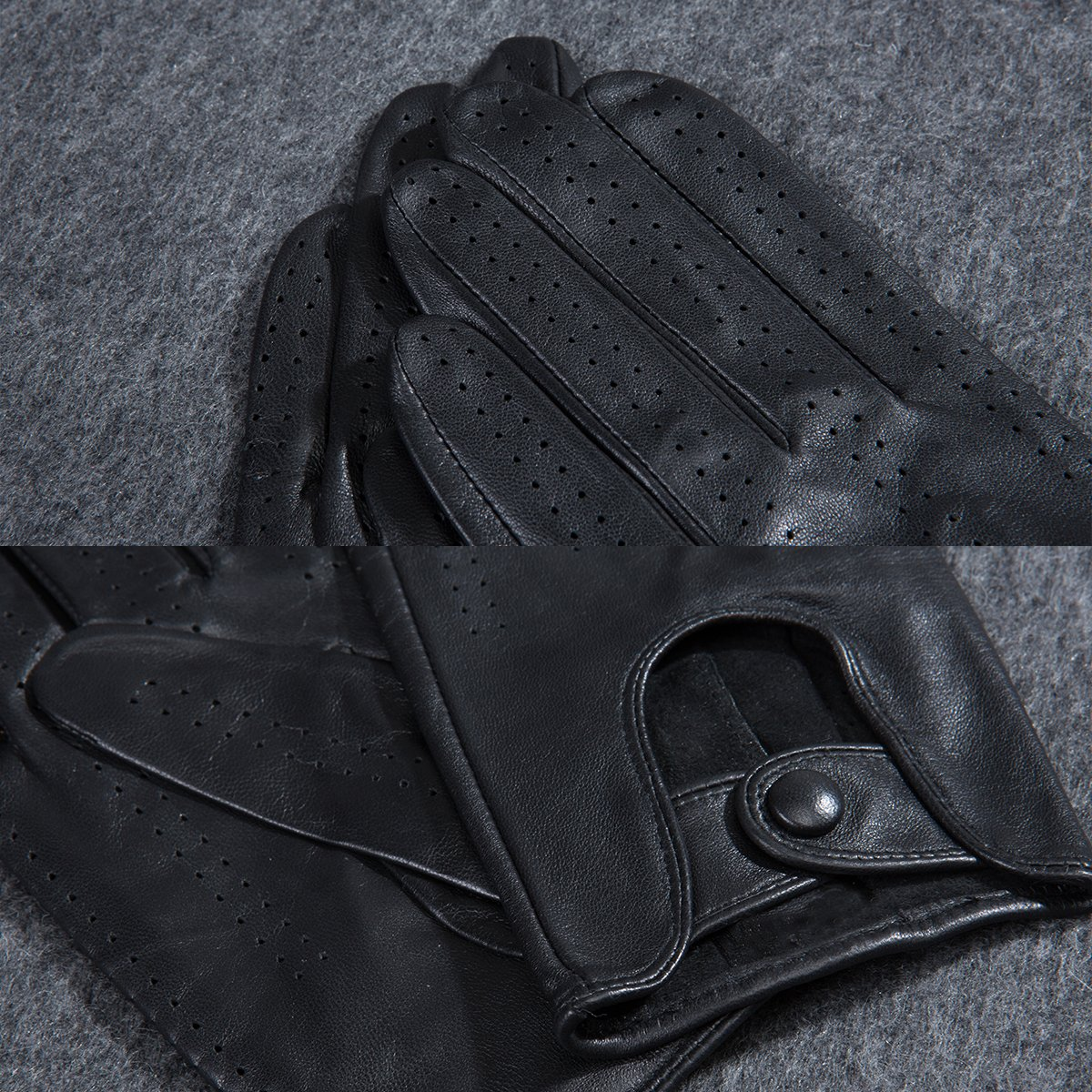 MATSU Classic Women Driving Touchscreen Lambskin Leather Gloves Available for Rivets DIY #9237 (XL, Black) by Matsu Gloves (Image #6)