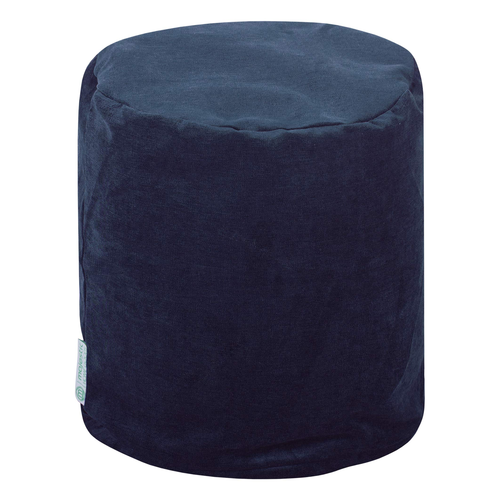 Majestic Home Goods Navy Villa Indoor Bean Bag Ottoman Pouf 16'' L x 16'' W x 17'' H