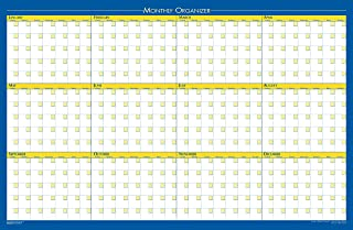 product image for House of Doolittle Laminated Wipe Off 12 Month Non-Dated Wall Planner Reversible 36 x 24 Inch (HOD642)