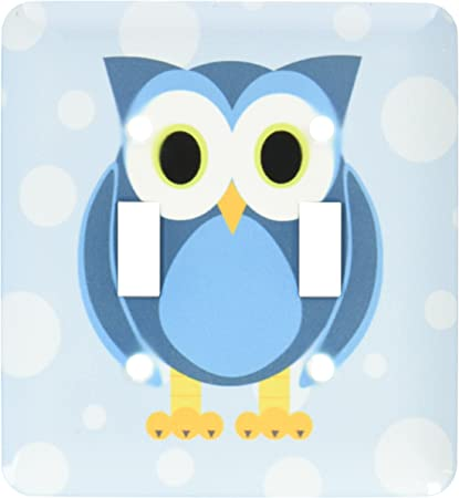 3drose Lsp 6312 2 Cute Owl On Light Blue Background Double Toggle Switch Multicolor Switch Plates Amazon Com