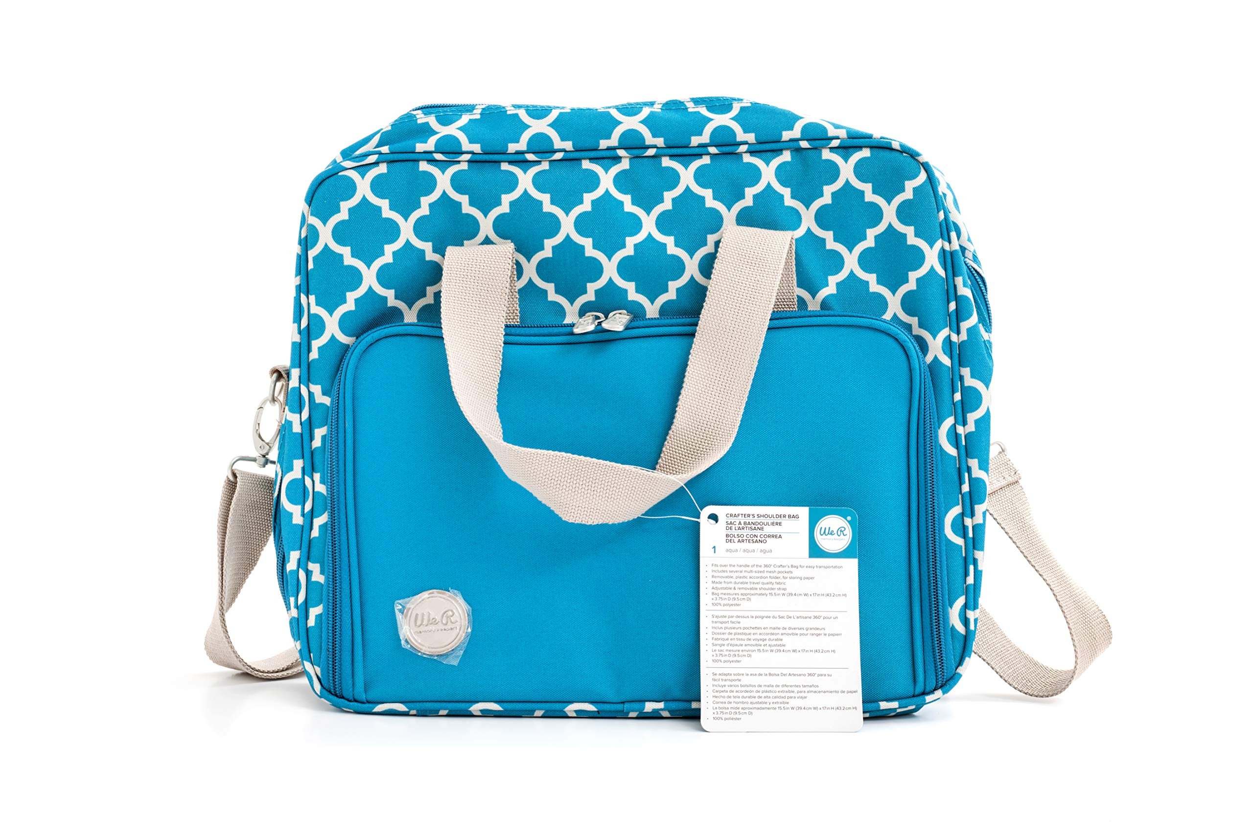 Crafter's Shoulder Bag by We R Memory Keepers | Aqua