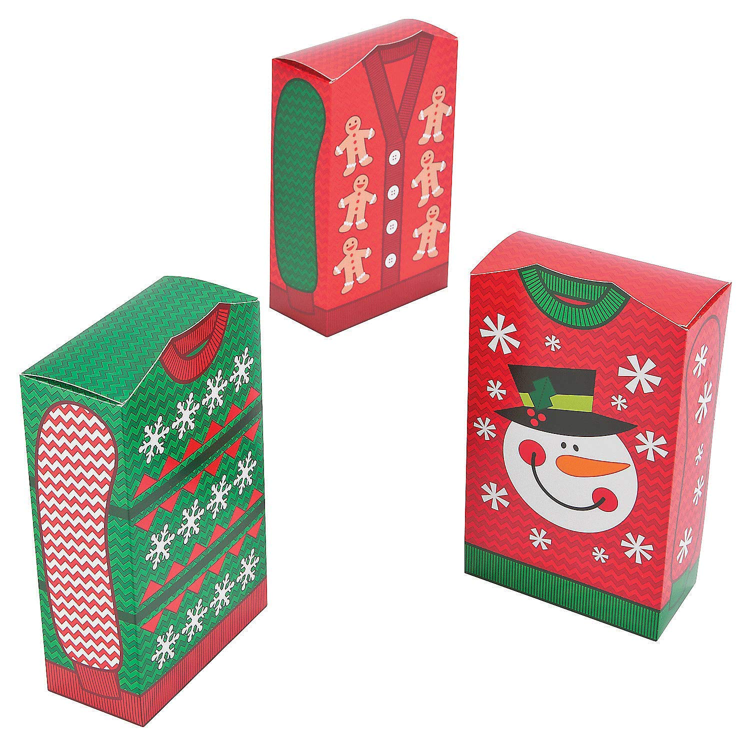 Ugly Christmas Sweater Party Favor Boxes 12 ct Fun Express