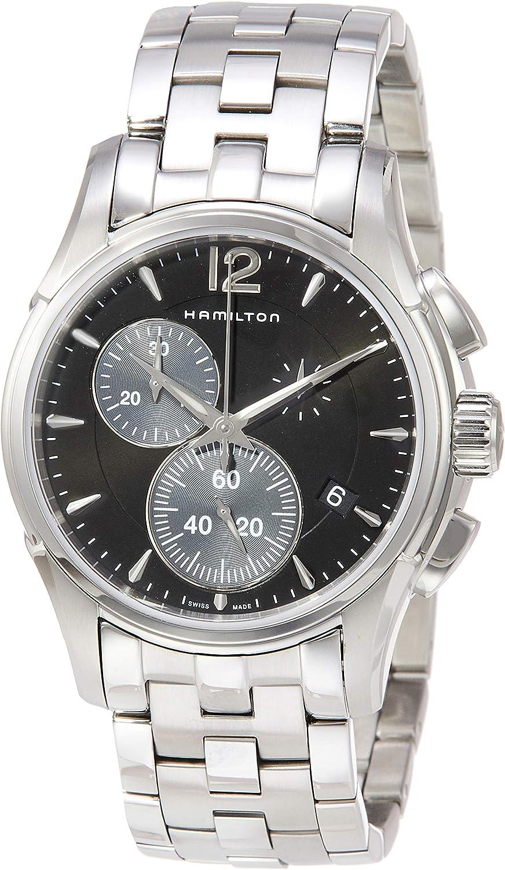 Reloj Hamilton Jazzmaster Chrono Cuarzo Acero Esfera Negra H32612131