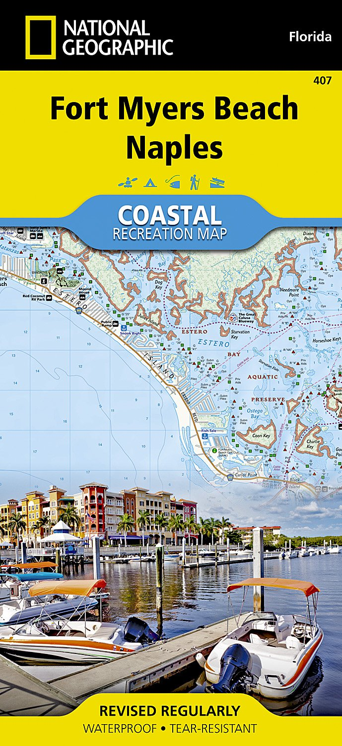 Map Of Fort Myers Beach Florida.Fort Myers Beach Naples National Geographic Trails Illustrated Map