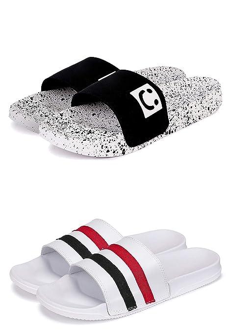 Buy BEONZA Men's Flip-Flop (Set of 2