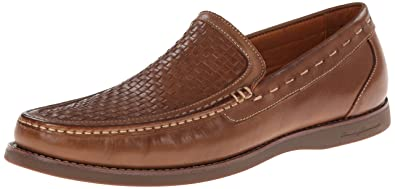 Tommy Bahama Men's Brooks Woven Slip-on,Wood Burnished Leather,US 8.5 M