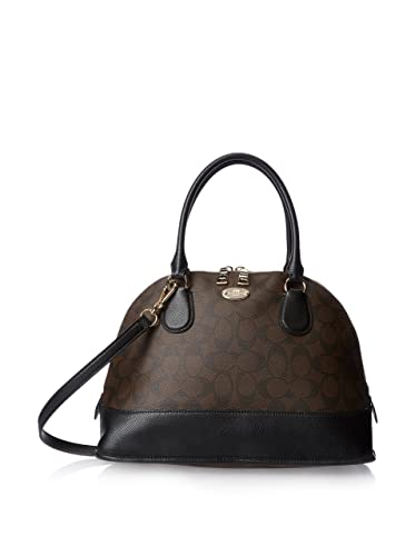a055782dbd Amazon.com  Coach Signature Cora Domed Satchel Bag  Shoes