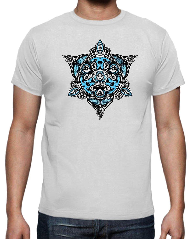 The Fan Tee Camiseta de Hombre Mandalas Buda Yoga: Amazon.es ...