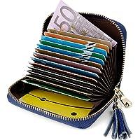 Tarjeteros Mujer Piel Tarjeteros para Tarjetas de Credito Tarjeteros Mujer Tarjetas Credito, Carteras de Mujer RFID…
