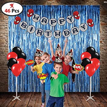 Party Propz Spiderman Combo Set of 12 Pieces / Spider Man Party