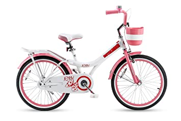 d5d2db33cfaf Royalbaby Jenny Princess Pink Girl's Bike with Kickstand and Basket, for  Kids, 20 inch