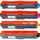Weemay Compatible for Brother TN-251 TN-255 Toner Cartridge Use for HL-3150CDN HL-3170CDW MFC-9330CDW MFC-9335CDW (1BK,1C,1M,1Y)
