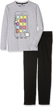 4eb9c4154491a MZ Ensemble de pyjama, Gris Chiné/Noir, Ans (Taille Fabricant: 10 Y) Garçon:  Amazon.fr: Vêtements et accessoires