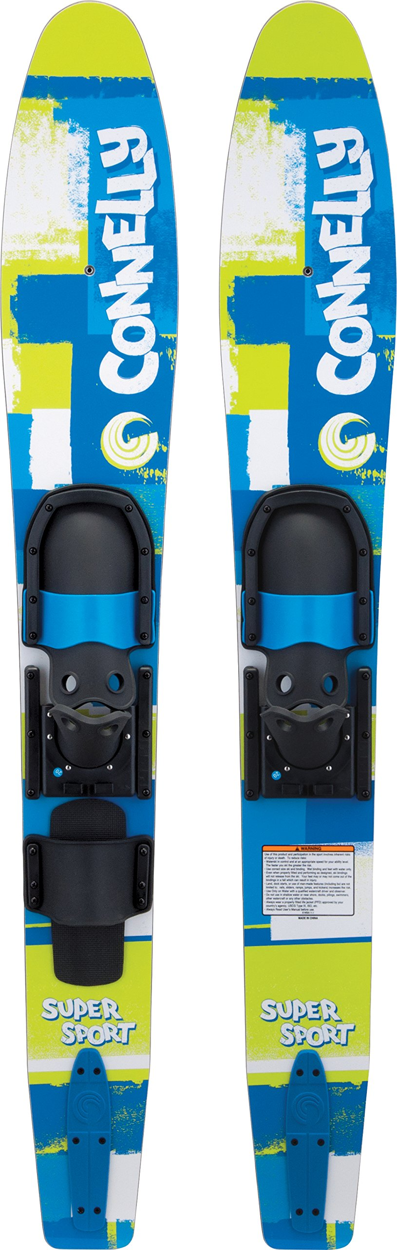 CWB Connelly Skis Super Sport Waterski Pair with Slide Adjustable Bindings